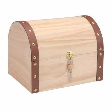 Schatkist maken hout kist 27 cm