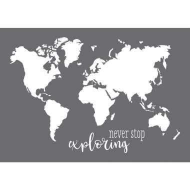 Schildersjabloon wereldkaart a3 formaat