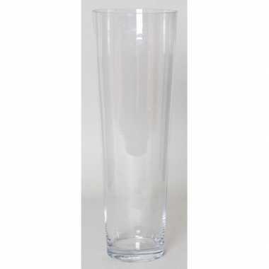Steelbloemen conische vaas helder glas 50 cm