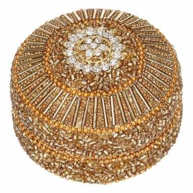 Tandendoosje goud oriental 8 cm 10084651