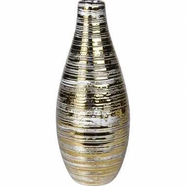 Vaas goud van keramiek 27 cm