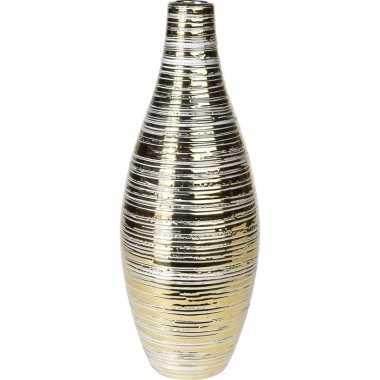 Vaas goud van keramiek 36 cm