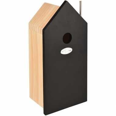 Vogelhuis/nestkast zwart huis 32 cm