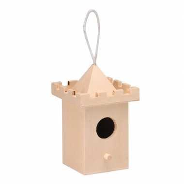 Vogelhuisje kasteel 8 cm