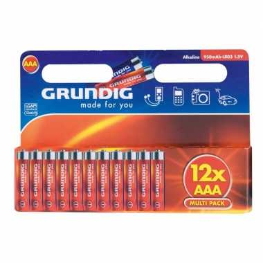 Voordeelpakket batterijen aaa grundig 12 stuks