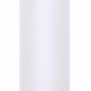 Witte tule stoffen15 cm breed