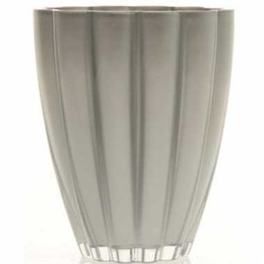 Zilveren glazen vaas 17 cm