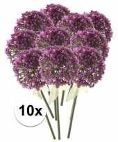 10 x kunstbloemen steelbloem roze paarse sierui 70 cm