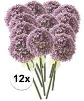 12 x kunstbloemen steelbloem lila sierui 70 cm