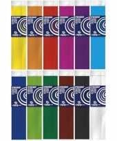 12x hobby crepe papier knutsel pakket 250 x 50 cm