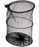1x leefnet voor vissen zwart 35cm visbenodigdheden