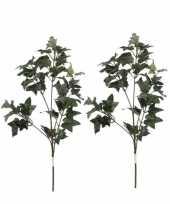 2 stuks nep planten hedera klimop kunstbloemen takken 55 cm decoratie