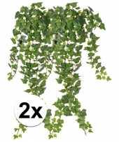 2 x kunstplanten groene klimop 65 cm