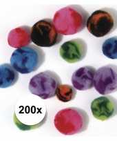 200x hobby pompons assortiment