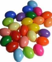25x plastic eitjes multikleur gekleurd 6 cm decoratie versiering