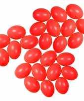 25x plastic rode eitjes 6 cm decoratie versiering
