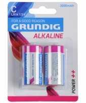 2x grundig alkaline lr14 c batterijen 1 5 volt