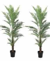 2x kunstplanten een varen van 150 cm