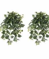 2x nep planten groene hedera helix klimop weerbestendige kunstplanten 65 cm 10162587
