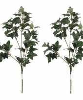 2x nep planten hedera klimop kunstbloemen takken 55 cm decoratie
