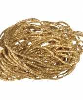 2x stuks goudkleurig touw koord 5 mtr