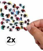 2x wiebel oogjes gekleurd 30 stuks