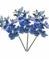 3 stuks nep planten blauwe phaleanopsis vlinderorchidee kunstbloemen 70 cm decoratie