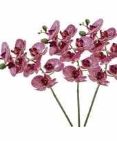 3 stuks nep planten fuchsia roze phaleanopsis vlinderorchidee kunstbloemen 70 cm decoratie