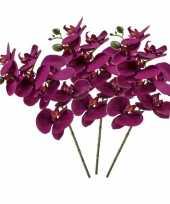 3 stuks nep planten violet paarse phaleanopsis vlinderorchidee kunstbloemen 70 cm decoratie
