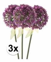 3 x kunstbloemen steelbloem roze paarse sierui 70 cm