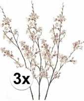 3 x kunstbloemen tak roze japanse bloesem sakura 105 cm