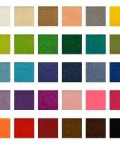 30x vellen vilt multipack in verschillende kleuren 10 x 15 cm