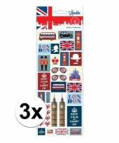3x kinder stickers keep calm and carry on londen