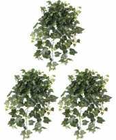3x nep planten groene hedera helix klimop weerbestendige kunstplanten 65 cm