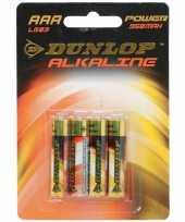 4 aaa alkaline batterijen dunlop