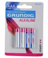 4 grundig alkaline batterijen lr03 aaa