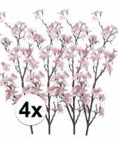 4 takken appelbloesem roze 104 cm