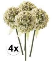 4 x kunstbloemen steelbloem witte sierui 70 cm