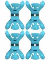4x feestversiering ophangen klemmen blauw