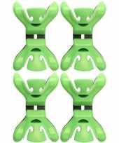 4x feestversiering ophangen klemmen groen