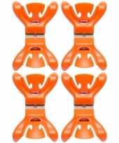4x feestversiering ophangen klemmen oranje