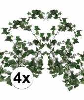 4x klimop slinger groen hedera helix 180 cm