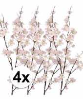 4x roze appelbloesem takken 84 cm