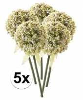 5 x kunstbloemen steelbloem witte sierui 70 cm