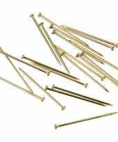 500 stuks goudkleurige kopspelden l 16 x d 0 65 mm 25 gram