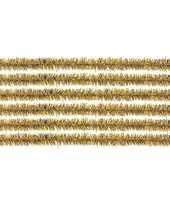 50x hobby chenille draad goud 50 cm