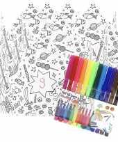 5x kroontjes om in te kleuren met stiften voor kinderen