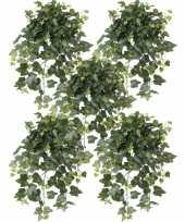 5x nep planten groene hedera helix klimop weerbestendige kunstplanten 65 cm