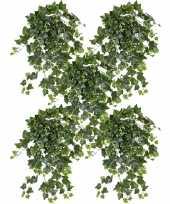 5x nep planten groene witte hedera helix klimop weerbestendige kunstplanten 65 cm