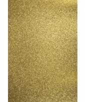 5x stuks metallic goud hobby papier